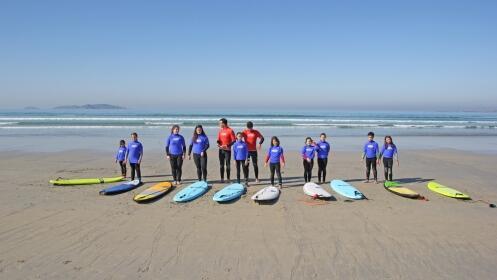 Ruta en Paddle Surf o Curso de Surf. 2 horas, en O Grove.