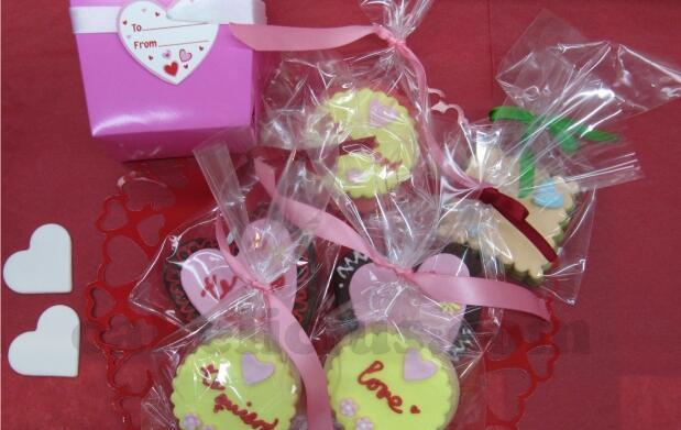 ¡Dulce San Valentín!Pack de 6 galletas