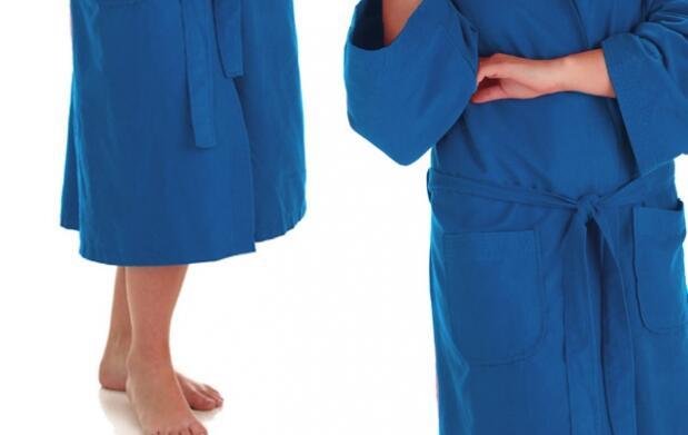 Albornoz de microfibra color azul