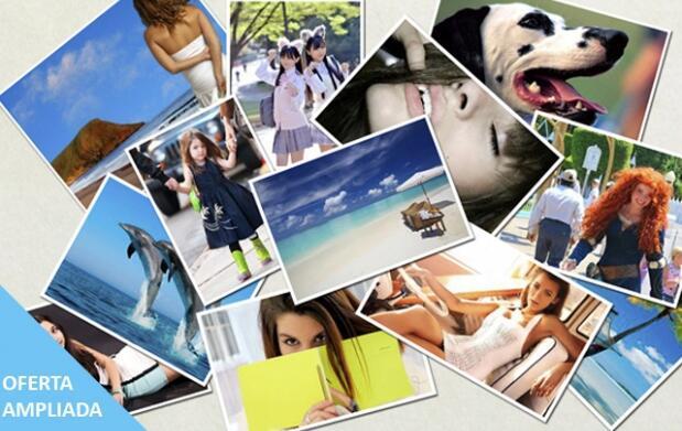 ¡Imprime 100 fotos + 1 ampliación!