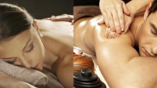 Masaje relajante en espalda, piernas, pies, craneal y rostro de 60 min con aceites esenciales