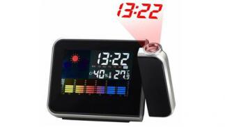 Reloj de Proyección Digital LED con Estación Meteorológica