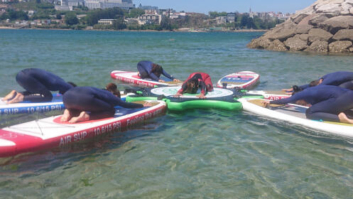 1 h actividad Paddle Sup Yoga + 1 h paddle surf