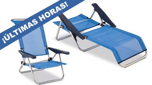 Silla de playa reclinable