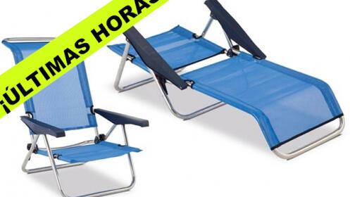 Silla de playa reclinable.