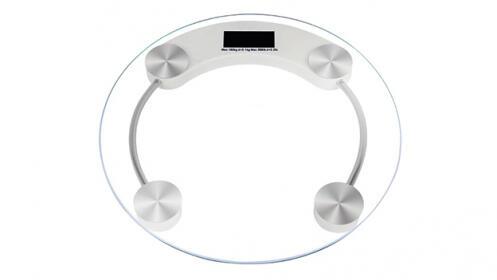 Báscula redonda eléctrónica de cristal