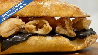 Menú para llevar: Croquetas de queso gallego y castaña, bocadillo gourmet, delicioso postre y bebida