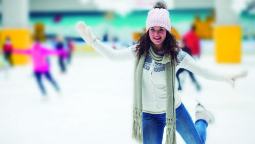 Entrada para 2 personas en pista de hielo. Tiempo ilimitado y patines