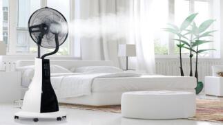Ventilador de pie con nebulizador