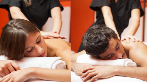 Masaje relajante de espalda o anticelulítico de piernas/abdomen
