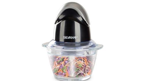 Picadora Eléctrica con bol de cristal
