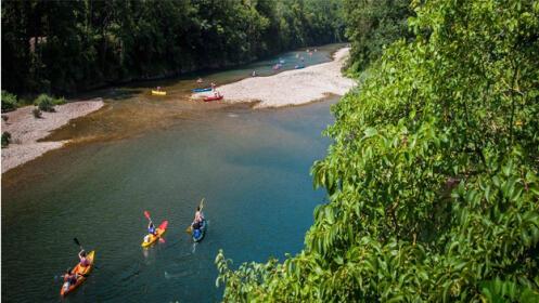 Descenso del Sella en canoa con rampa de lanzamiento