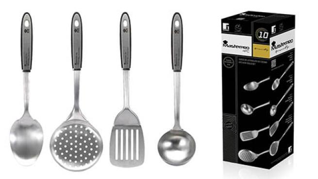 Set de 4 utensilios de cocina serie Gravity Masterpro de Bergner